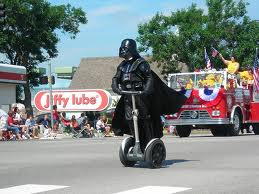 Darth Vader on a Segway