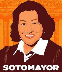 Sonia Sotomayor Poster by Favianna Rodriguez